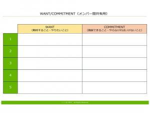 ウォント・コミットメント テンプレート(PowerPoint形式)